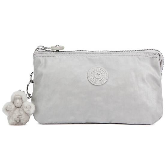 Creativity Large Pouch,Pearlized Ash Grey,large