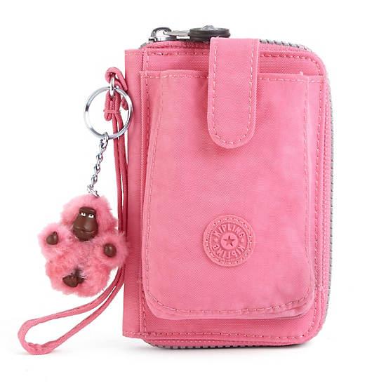 PATTIE WALLET WRISTLET,Dots Spring Pink Combo,large