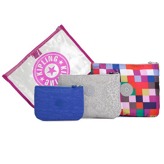 Yurata Multi Pouch Set,Loopy Flowers,large