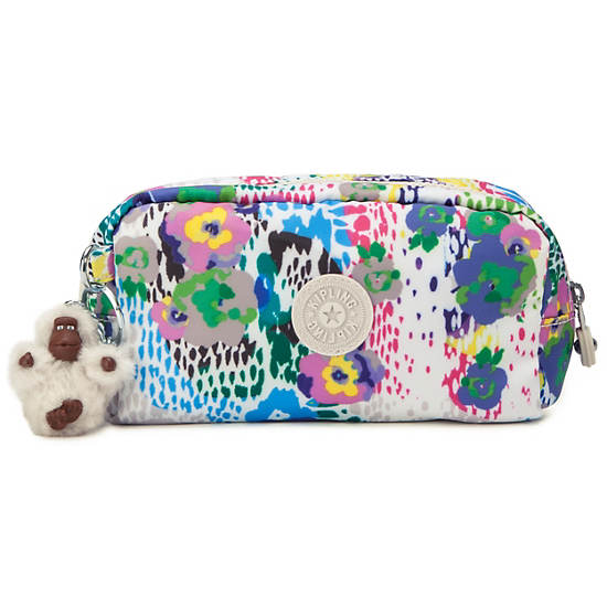 YVONN PRINTED POUCH,Daisy Dance Print,large