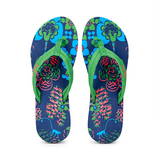 Kipling Flip Flops (Small),Cool Blue,large