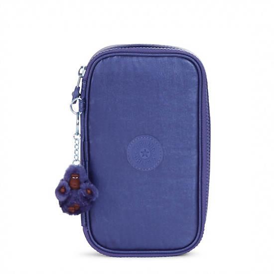 50 Pens Metallic Pencil Case,Enchanted Purple Metallic,large
