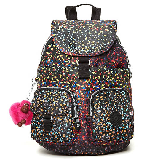FIREFLY Print Small Backpack,Fan Florals,large