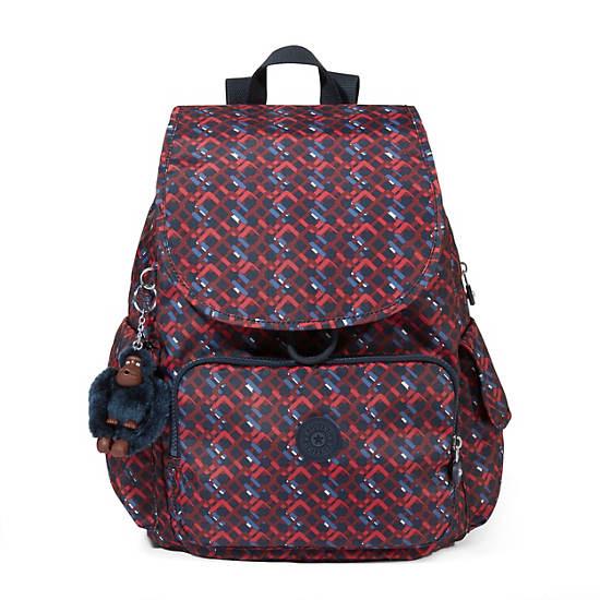 Ravier Medium Printed Backpack,Groovy Lines,large