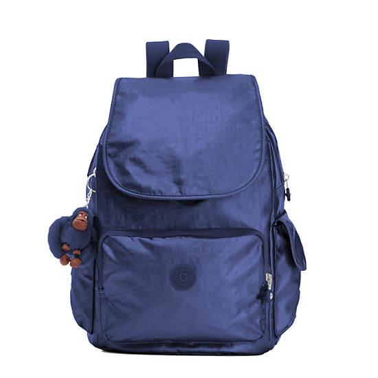 Ravier Medium Metallic Backpack,Enchanted Purple Metallic,large