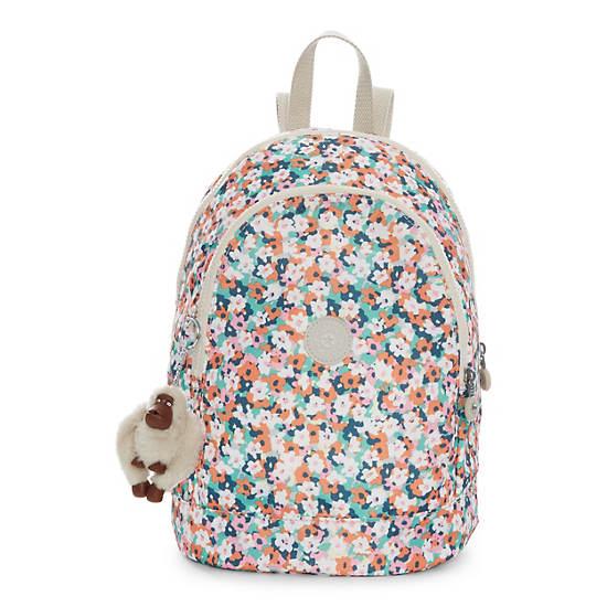 Yaretzi Small Printed Backpack,Meadow Flower Pink,large
