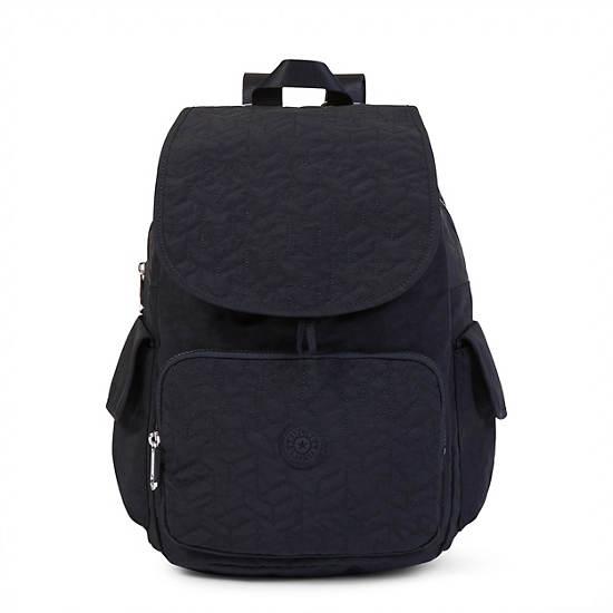 Ravier Medium Quilted Backpack,Black,large