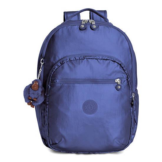 Seoul Large Metallic Laptop Backpack,Enchanted Purple Metallic,large