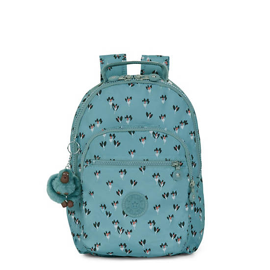 Seoul Small Printed Backpack,Fan Florals,large