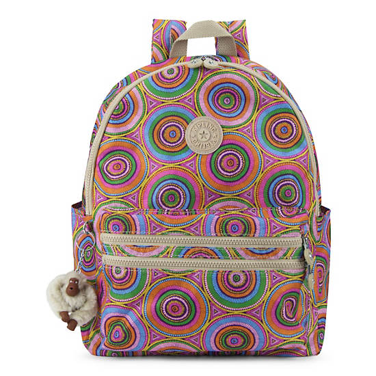 Bouree Printed Backpack,Late Dusk,large