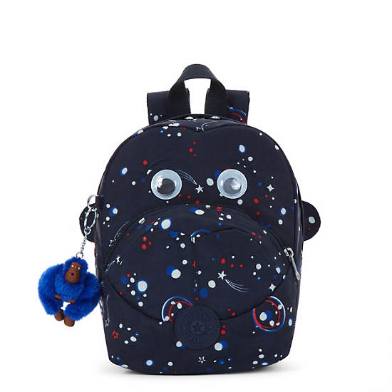 Fast Small Printed Kids Backpack,Galaxy Party,large