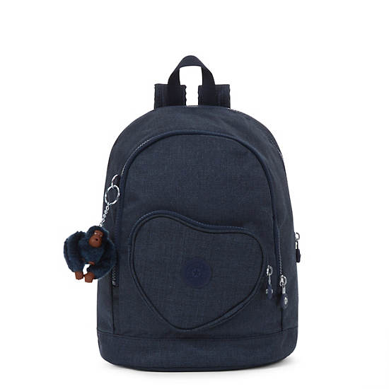 Heart Small Kids Backpack,Jeans True Blue,large