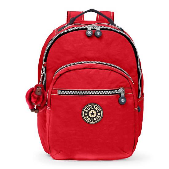 Seoul Large Vintage Laptop Backpack,Red,large