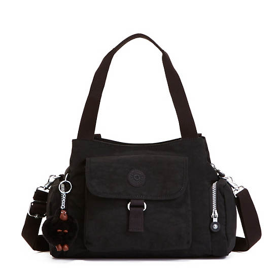 Felix Large Handbag,Black,large