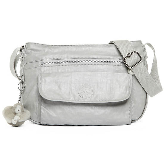 Syro Crossbody Bag,Pearlized Ash Grey,large