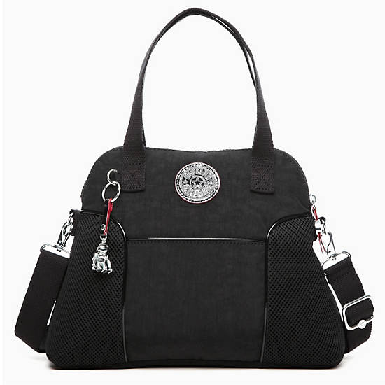 Pahneiro Mesh Handbag,Slate Grey,large