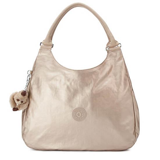 Bagsational Metallic Handbag,Toasty Gold,large