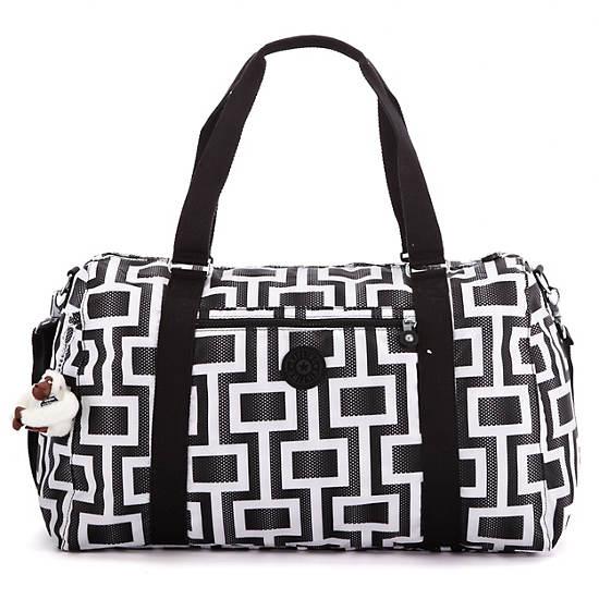 Itska Print Duffle Bag,Maze,large