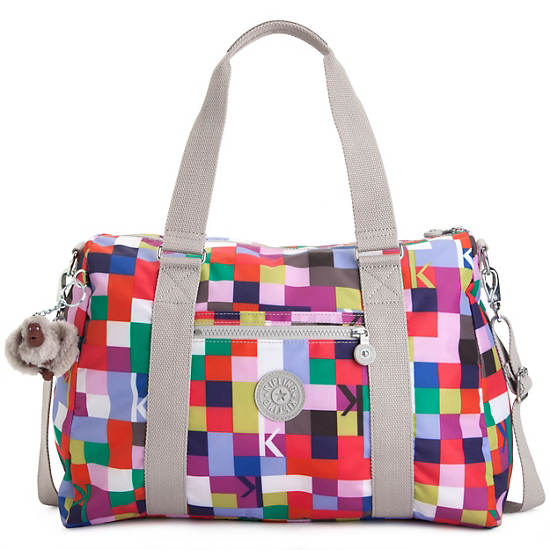 Itska Print Duffle Bag,Loopy Flowers,large
