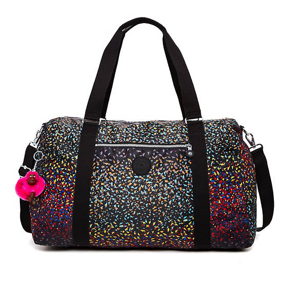 Itska Print Duffle Bag,Fan Florals,large