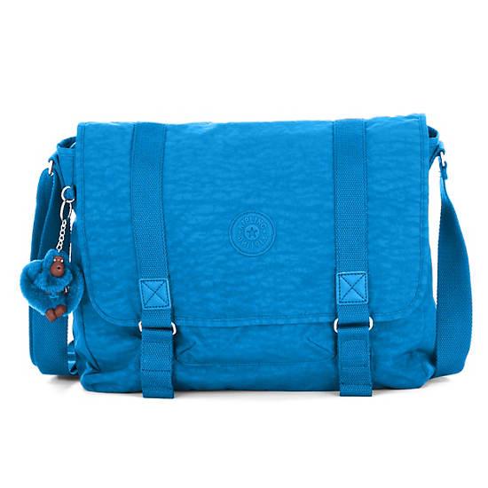 Aleron Messenger Bag,Azure Blue,large