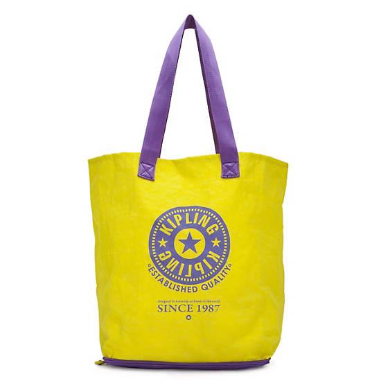 Hip Hurray Foldable Tote Bag,Honey Purple,large