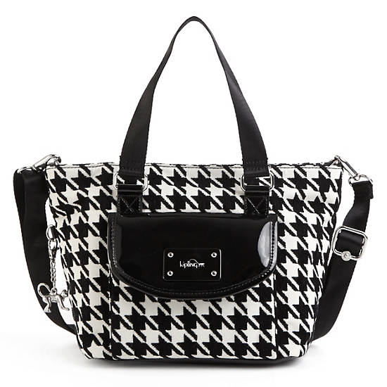 Always On Albie Patterned Tote Bag,Houndstooth,large