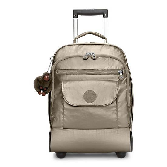 Sanaa Metallic Rolling Backpack,Metallic Pewter,large