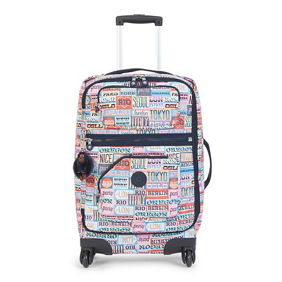 Darcey Small Printed Rolling Luggage | Kipling