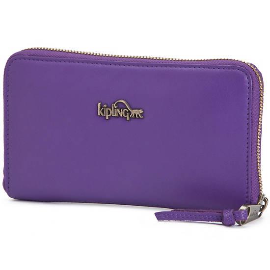 Alvis Leather Wallet,Imperial Purple,large