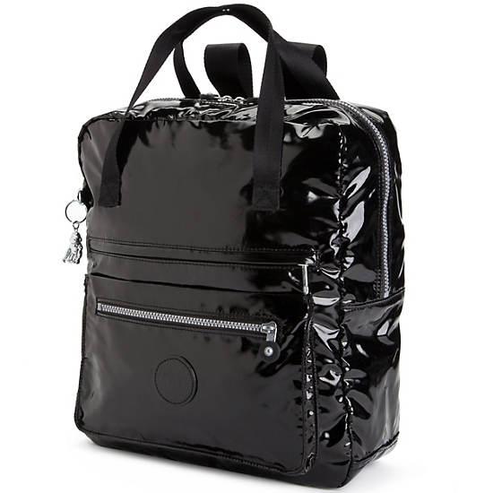 Salee Backpack,Black Patent,large