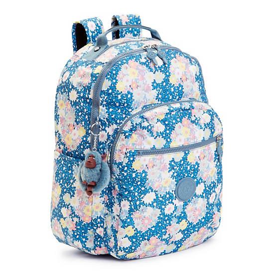 Seoul Large Printed Laptop Backpack,Make Happy,large