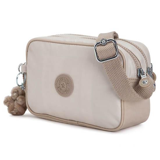 Dee Crossbody Bag,Patent Garnet,large