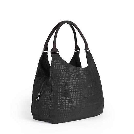 Bagsational Handbag,Black Pink Sherbert Combo,large