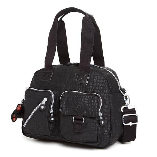 Defea Handbag,Black Pink Sherbert Combo,large
