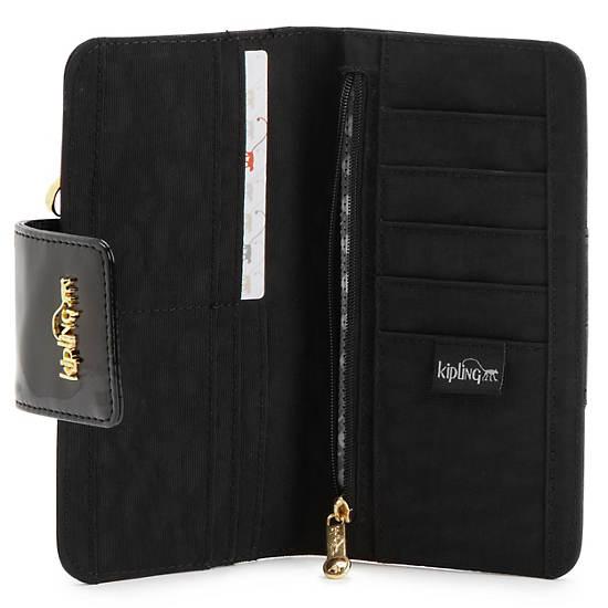 Gaudin Wallet,Black Patent Combo,large