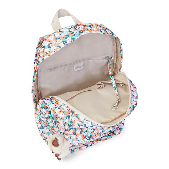 Dawson Small Printed Backpack,Meadow Flower Pink,large