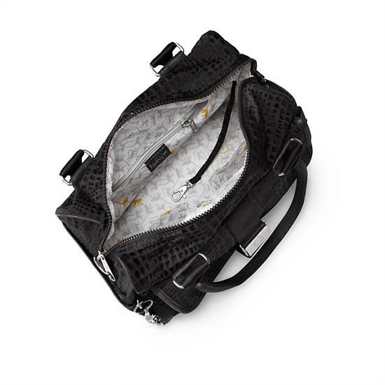 Double Up Handbag,Black Pink Sherbert Combo,large
