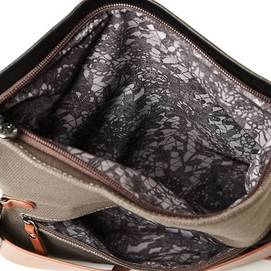 Helena Leather Clutch,Geo Print Mix,large