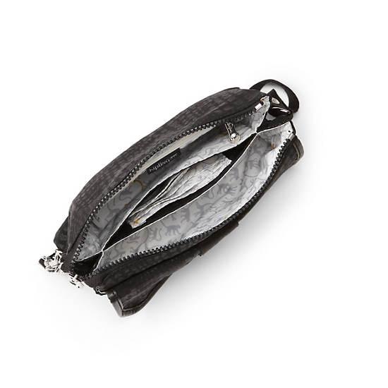 Vecka Wallet,Metallic Pewter Croc,large