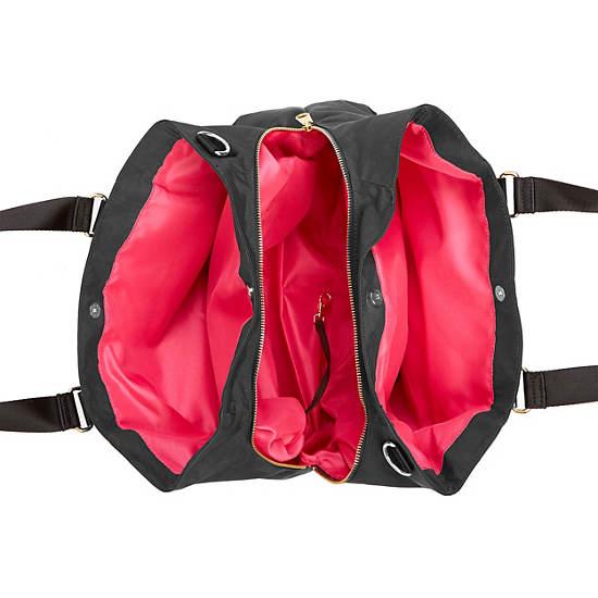 Kellyn Handbag,Black Patent Combo,large
