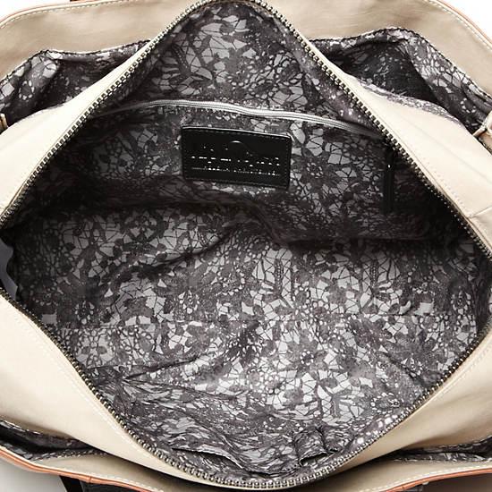 Helena Large Leather Tote,Geo Print Mix,large