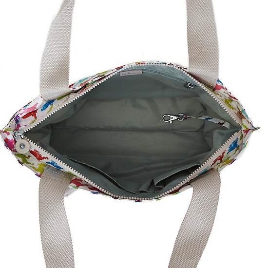 Jerimiah Printed Tote Bag,Houndstooth Multi,large