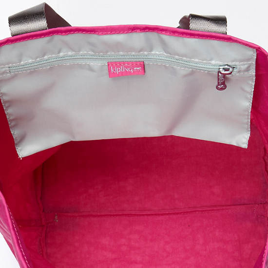 Hip Hurray Foldable Tote Bag,Very Berry,large
