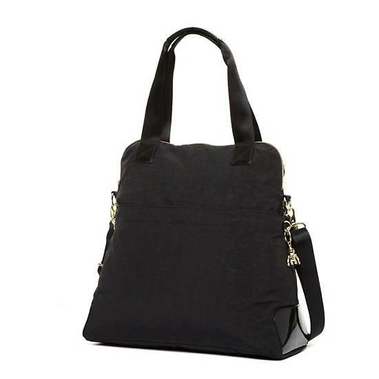Maddie Handbag,Black Gold Mix,large