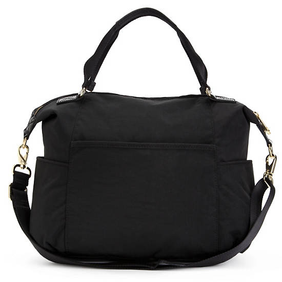 Marly Handbag,Black Patent Combo,large
