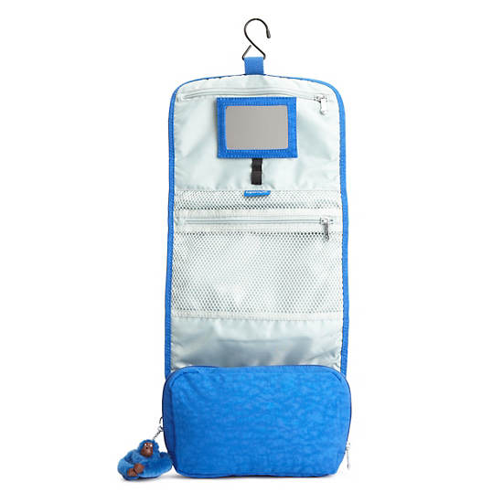 FLAX HANGING TOILETRY BAG,French Blue,large