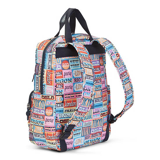 Sharpay Medium Printed Laptop Backpack,Hello Weekend,large