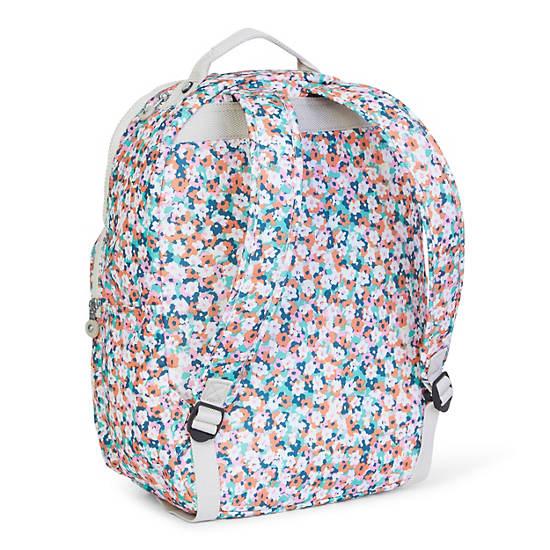 Seoul Large Printed Laptop Backpack,Meadow Flower Pink,large