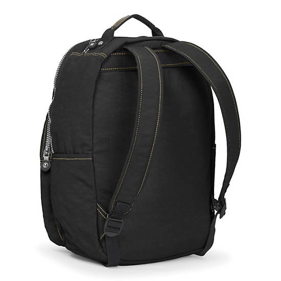 Seoul Large Vintage Laptop Backpack,Black,large